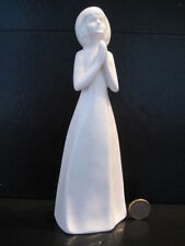 ROYAL DOULTON IMAGES GOD BLESS YOU HN3400 FIGURE WHITE CHINA COMMUNION GIFT GIRL