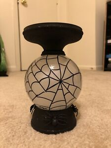 New Bath & Body Works Halloween Water Globe Bat Pedestal 3-wick Candle Holder