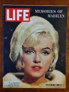 Life Magazine August 17, 1962 - Memoirs of Marilyn Monroe After Her Death