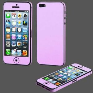 APPLE IPHONE 5 PURPLE LEATHER TOTAL BODY SCREEN PROTECTOR
