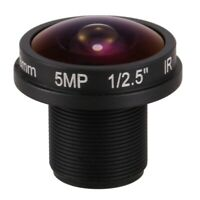 HD fisheye cctv lens 5MP 1.8mm M12*0.5 mount 1/2.5 F2.0 180 degree for vide