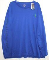 Polo Ralph Lauren Big & Tall Mens XLT Blue Big Pony L/S Crewneck T-Shirt NWT XLT