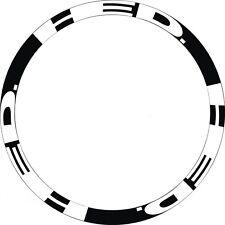 Carbon Bike/Cycling/Cycle/Push Bike Wheel Decal Sticker Kit For 2Wheels 700C