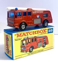 Matchbox Lesney Superfast No 35 Merryweather Fire Engine in Box