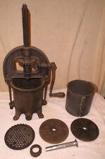 Enterprise 4 Qt Fruit/Lard Press Sausage Stuffer Cast Iron Complete Antique