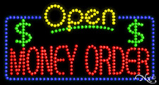 "New ""Open Money Order"" 32x17 Solid/Animated Led Sign W/Custom Options 25536"