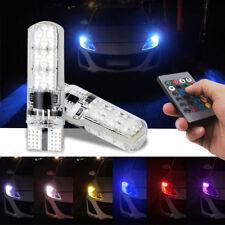 2x T10 5050 RGB Light Multi colour Interior Bulb Wedge Strobe Remote Control UK