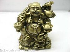 Chinese Bronze Laughing Buddha Statue for Good Fortune 105mm High(FS-S113)