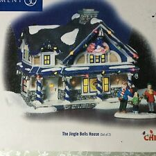 Dept 56 Snow Village® THE JINGLE BELLS HOUSE Christmas Lane Set of 2- BRAND NEW