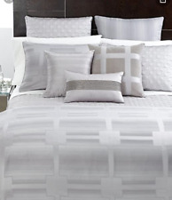 HOTEL COLLECTION MERIDIAN GRAY KING  DUVET COVER
