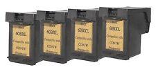 Printenvro 4x HP 60XL Black CC641W Reman Ink Cartridge for  D2560 D2660 D5560