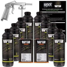 U-POL RAPTOR™ Two(2) Black Spray-On Truck Bedliner Kits + 1 Spray Gun