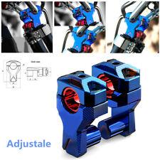 Motorcycle Bikes Handlebar Risers 22MM 28MM Heightening Adapter Code Baked blue