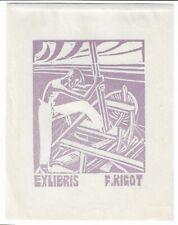 ANONYM: Exlibris für F. Rigot; Boot