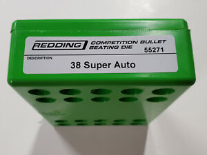 55271 REDDING COMPETITION SEATING DIE - 38 SUPER AUTO - BRAND NEW - FREE SHIP