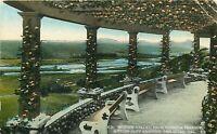 DB Postcard CA H007 Mission Valley Pergola Terrace Cliff Gardens San Diego 1925