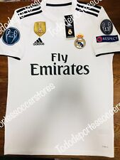 Adidas Real Madrid Home Soccer Jersey 2018-2019 Champions Patches Size XL