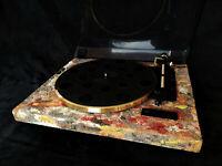 """Turntable Plattenspieler """"DESERT COLOURS"""" Techical Art Dual Laufwerk CS 455 Gold"""
