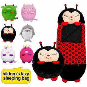 Happy Nappers Unicorn Sleeping Bag Kids Boys Girls Play Pillow Cartoon Animal