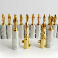 10× For Nakamichi Speaker Banana Plug Audio Jack connector 24K Gold Plated 50MΩ