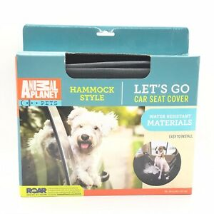 Animal Planet Pets Black Hammock Style Car Back Seat Water Resistant Cover