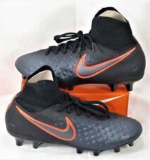 Nike JR Magista Obra II 2 FG Black & Crimson Soccer Cleat Sz 5Y NEW 844410 008