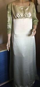 Regency Dress, Jane Austen, Satin, 3/4 Sleeves, Size 16, Free UK P&P