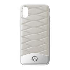 Mercedes Benz Original COQUE / COQUE Iphone X PLASTIQUE / Cuir Gris/Argent