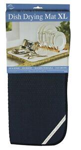 Envision Home 18 x 24 Inches Microfiber XL Dish Drying Mat, Black