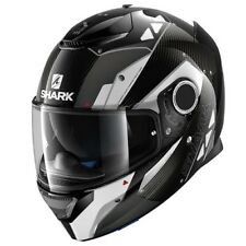 Shark Spartan Bionic Carbon Fibre Black/White Motorcycle Helmet XLarge 61-62 cm