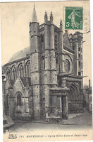 77 - cpa - MONTEREAU - Eglise Notre Dame et Saint Loup
