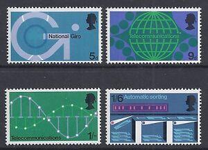 GB 1969 QEII POST OFFICE TECHNOLOGY SET OF 4 FINE MINT MNH/MUH SG808-SG811
