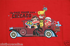 Paul Frank T-Shirt The Paul Frank Store Chicago Red 100% Cotton Womens