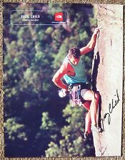 Signed GREG CHILD 8x11 PHOTO In-Person Climber Alpinist Autograph
