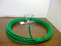 25 feet 20 AWG Shielded Silver Plated PTFE Wire Green Twisted Pair w Drain
