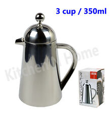 Coffee Plunger 3 Cup/350ml - Stainless Steel