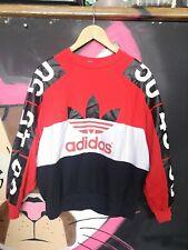 Adidas Originals Mujer Ala de Murciélago Suéter Rojo Blanco Negro