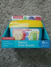 Fisher Price Toys Babys First Blocks 10 Piece Developmental Toy Block Set New