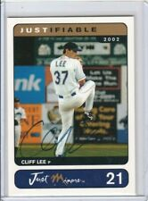 Cliff Lee 2002 Just Minors Rookie Autograph AUTO RC #/400 *INDIANS* *PHILLIES*