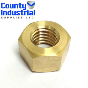 """BSW BRASS FULL NUTS 1/4"""" 5/16""""3/8"""" 1/2"""" 5/8"""" 1"""""""