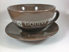 Godiva Chocolatier Cup and Saucer Brown White Imprint California Pantry China