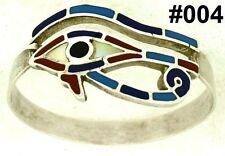 Hallmark Egypt Ägypten Pharaoh Silver Bracelet,Eye of Horus and Real Gemstone