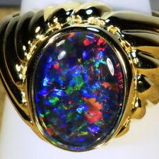 Genuine Australia opal Mans / Womans Solid 14k Gold ring (15044)