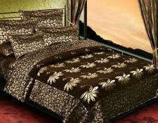 "KingSize 500TC Chenille Double Bedsheet 2 PillowCover Multicolor 90""X100"" Coffee"