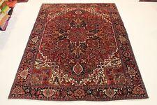 Antique Herizi Très Bien Persan Tapis D'Orient 4,06 X 2,96