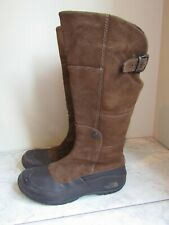 The North Face Primaloft 200 Gram Women's High Boots Brown Leather Zipper 6.5