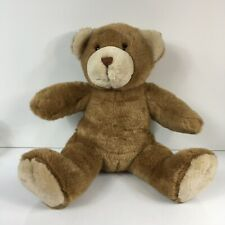Build A Bear BAB Brown And Tan Sitting Stuffed Animal Plush 15""