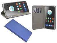 Book-Style Handy Hülle Etui Tasche Zubehör in Blau-Navy für ZTE BLADE A520 @COFI