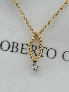 Roberto Coin Women's Yellow Gold 18k New Barocco Diamond Ruby Pendant Necklace