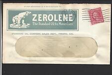 """FRESNO, CALIFORNIA COVER 1915, """"ZEROLENE"""" THE STANDARD OIL FOR MOTOR CARS!"""